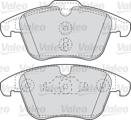 Kit de plaquettes de frein, frein à disque - VALEO - 598879