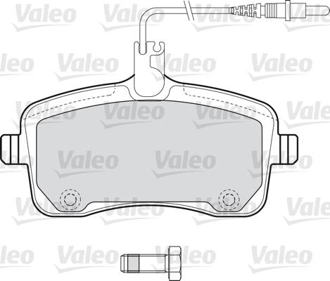 Kit de plaquettes de frein, frein à disque - VALEO - 598662