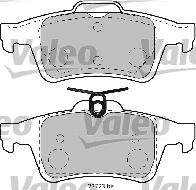 Kit de plaquettes de frein, frein à disque - VALEO - 598783