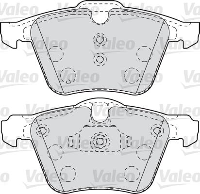 Kit de plaquettes de frein, frein à disque - VALEO - 601007
