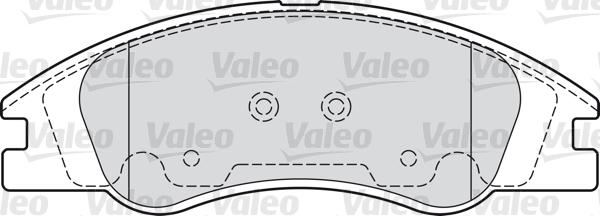 Kit de plaquettes de frein, frein à disque - VALEO - 598705