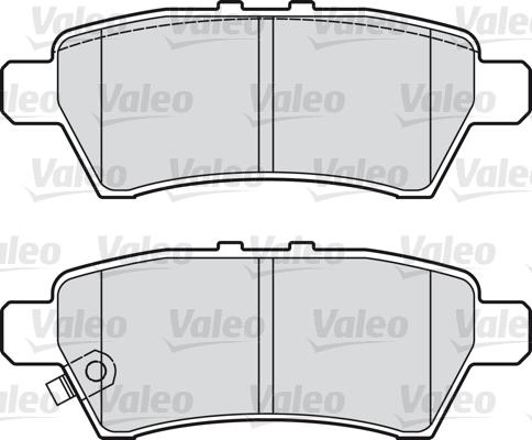 Kit de plaquettes de frein, frein à disque - VALEO - 598730
