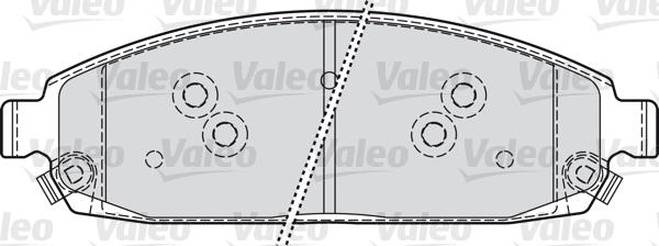 Kit de plaquettes de frein, frein à disque - VALEO - 598872