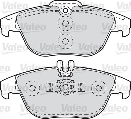 Kit de plaquettes de frein, frein à disque - VALEO - 601051