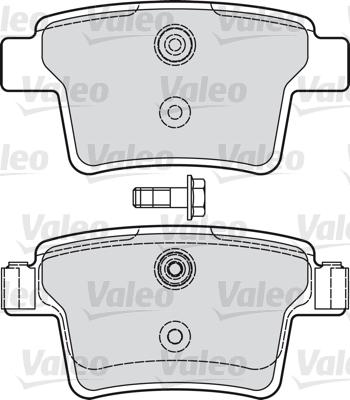 Kit de plaquettes de frein, frein à disque - VALEO - 598740