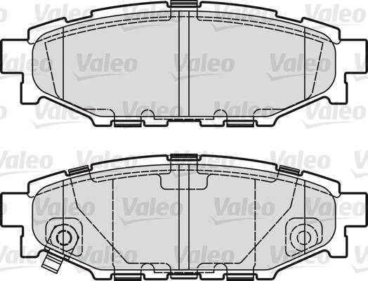 Kit de plaquettes de frein, frein à disque - VALEO - 598929