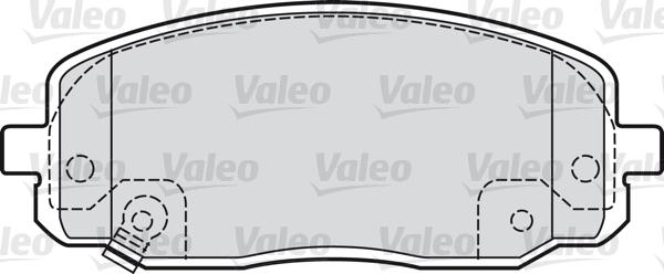 Kit de plaquettes de frein, frein à disque - VALEO - 598707