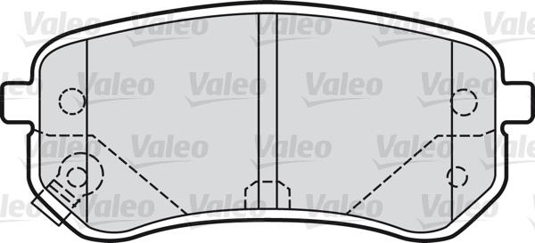 Kit de plaquettes de frein, frein à disque - VALEO - 598706