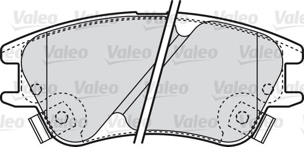 Kit de plaquettes de frein, frein à disque - VALEO - 598708