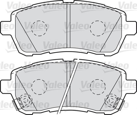 Kit de plaquettes de frein, frein à disque - VALEO - 598999