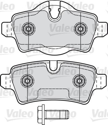 Kit de plaquettes de frein, frein à disque - VALEO - 601041