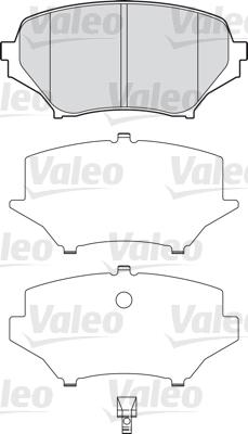Kit de plaquettes de frein, frein à disque - VALEO - 598745