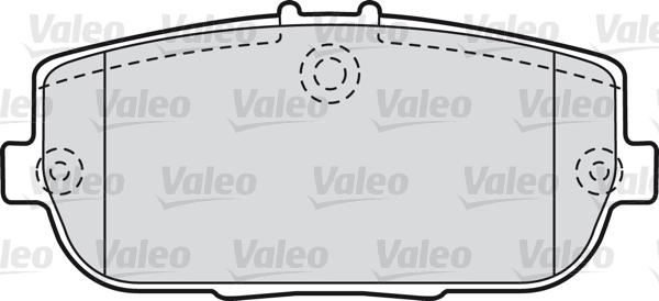 Kit de plaquettes de frein, frein à disque - VALEO - 598746