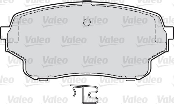 Kit de plaquettes de frein, frein à disque - VALEO - 598878