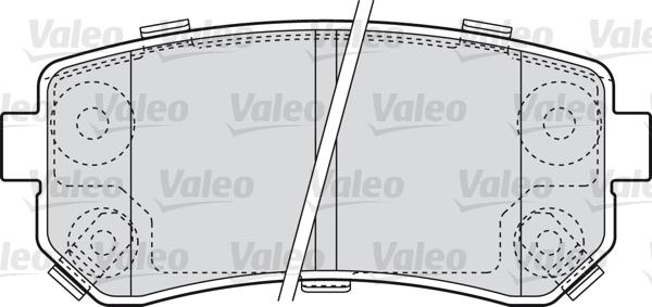 Kit de plaquettes de frein, frein à disque - VALEO - 598867