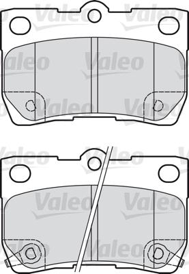 Kit de plaquettes de frein, frein à disque - VALEO - 598888