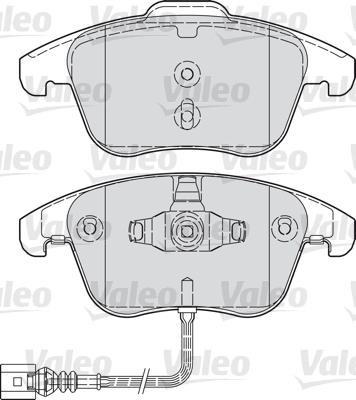 Kit de plaquettes de frein, frein à disque - VALEO - 601036
