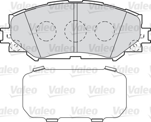 Kit de plaquettes de frein, frein à disque - VALEO - 598943