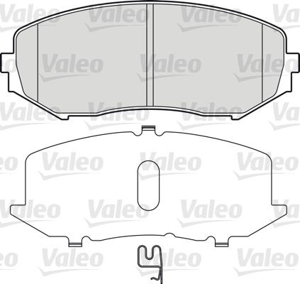 Kit de plaquettes de frein, frein à disque - VALEO - 598877