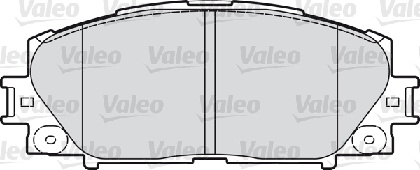 Kit de plaquettes de frein, frein à disque - VALEO - 598896