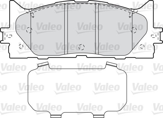 Kit de plaquettes de frein, frein à disque - VALEO - 598890