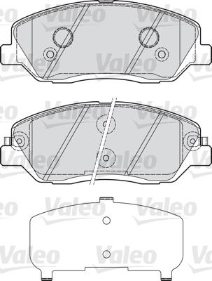Kit de plaquettes de frein, frein à disque - VALEO - 598937