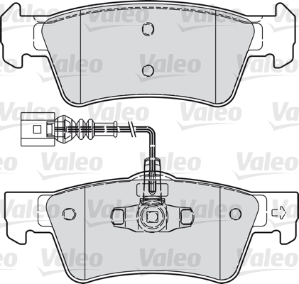 Kit de plaquettes de frein, frein à disque - VALEO - 598946