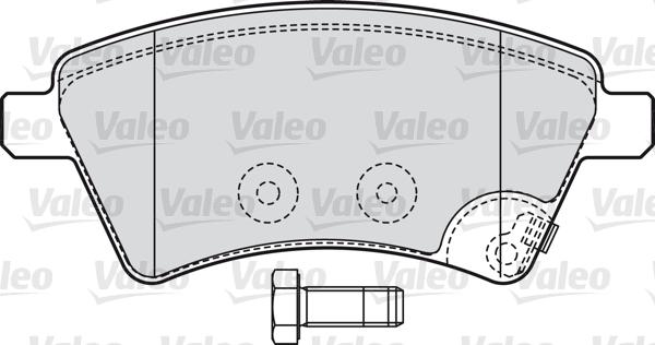 Kit de plaquettes de frein, frein à disque - VALEO - 598804