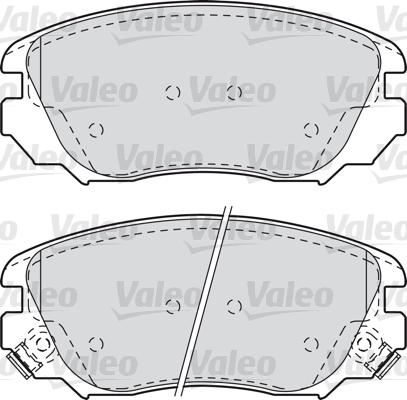 Kit de plaquettes de frein, frein à disque - VALEO - 601047