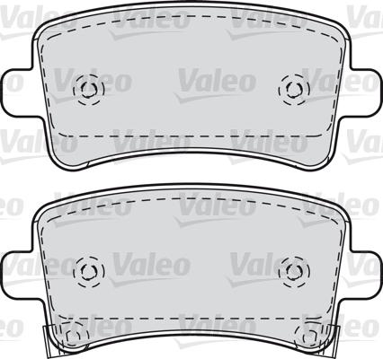 Kit de plaquettes de frein, frein à disque - VALEO - 601049