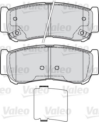Kit de plaquettes de frein, frein à disque - VALEO - 598932