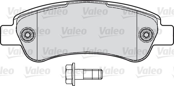 Kit de plaquettes de frein, frein à disque - VALEO - 598892