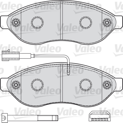 Kit de plaquettes de frein, frein à disque - VALEO - 598891