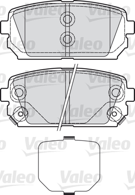 Kit de plaquettes de frein, frein à disque - VALEO - 598945