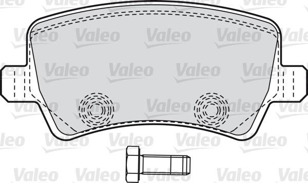 Kit de plaquettes de frein, frein à disque - VALEO - 598928