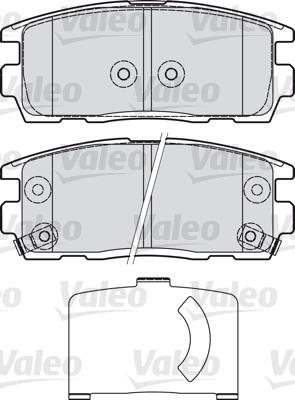 Kit de plaquettes de frein, frein à disque - VALEO - 598941