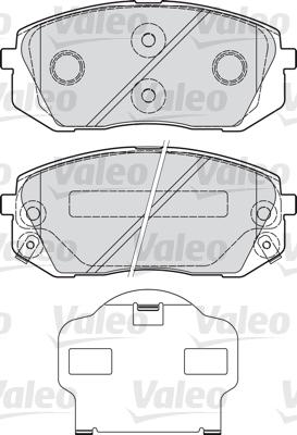 Kit de plaquettes de frein, frein à disque - VALEO - 598934