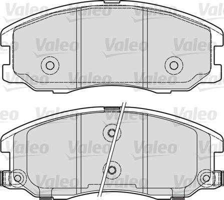 Kit de plaquettes de frein, frein à disque - VALEO - 598942