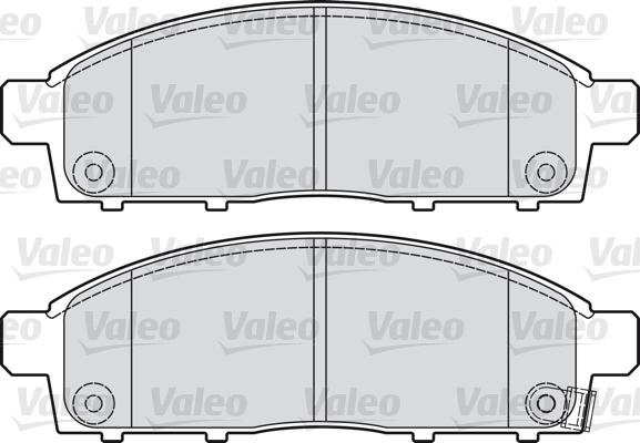 Kit de plaquettes de frein, frein à disque - VALEO - 598893