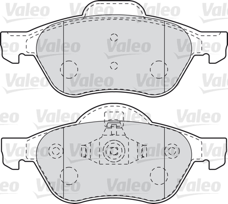Kit de plaquettes de frein, frein à disque - VALEO - 601012
