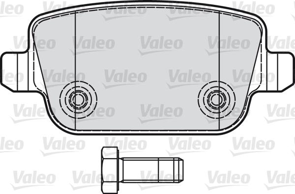 Kit de plaquettes de frein, frein à disque - VALEO - 598935