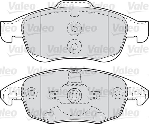 Kit de plaquettes de frein, frein à disque - VALEO - 598997
