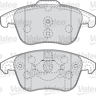 Kit de plaquettes de frein, frein à disque - VALEO - 598998
