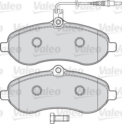 Kit de plaquettes de frein, frein à disque - VALEO - 598899