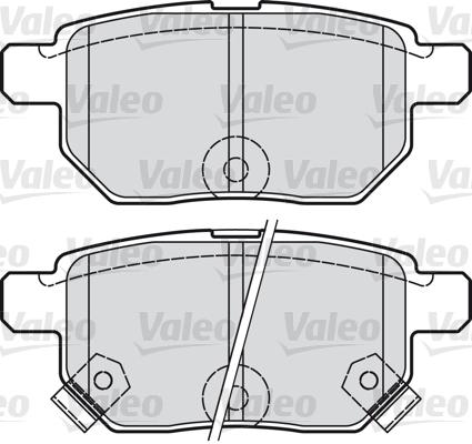 Kit de plaquettes de frein, frein à disque - VALEO - 598933