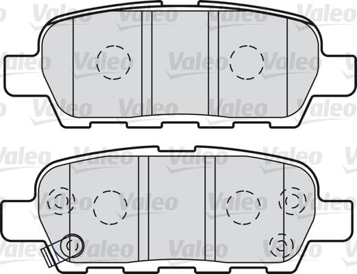 Kit de plaquettes de frein, frein à disque - VALEO - 601009