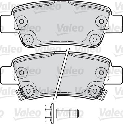 Kit de plaquettes de frein, frein à disque - VALEO - 601038