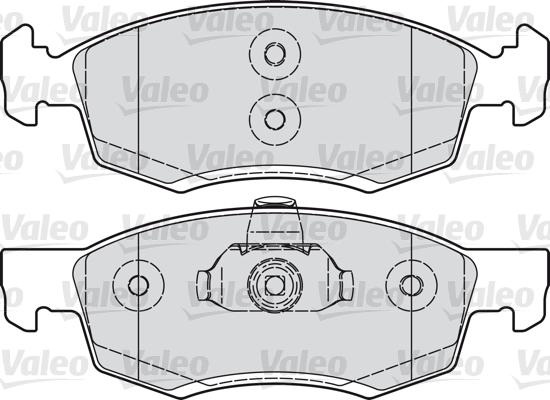 Kit de plaquettes de frein, frein à disque - VALEO - 601017