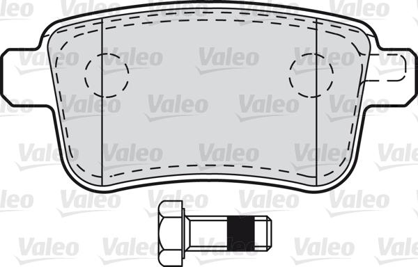 Kit de plaquettes de frein, frein à disque - VALEO - 601011