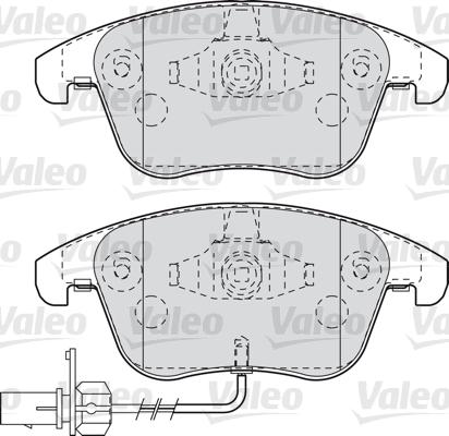 Kit de plaquettes de frein, frein à disque - VALEO - 598996